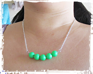 image diy neon bar necklace tutorial green silver
