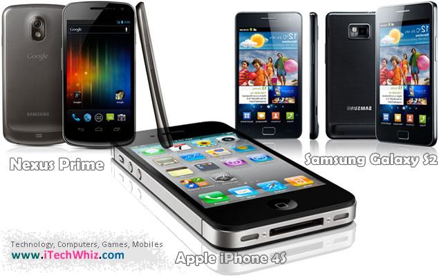 Google Nexus Prime vs Samsung Galaxy S2 vs Apple iPhone 4S