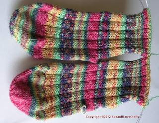 Simple Skyp sock insteps