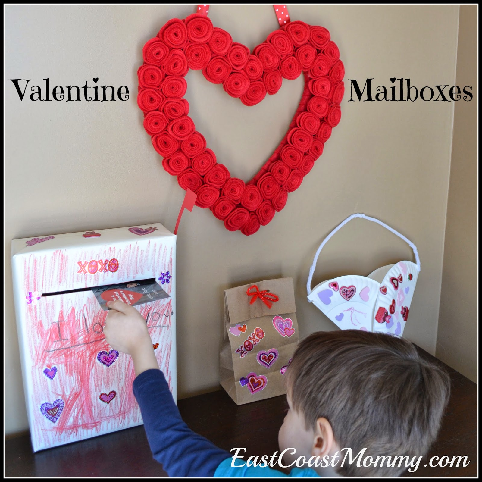 today i am sharing all three valentine mailbox tutorials at cbc kids and you can find them here - Valentine Mailboxes