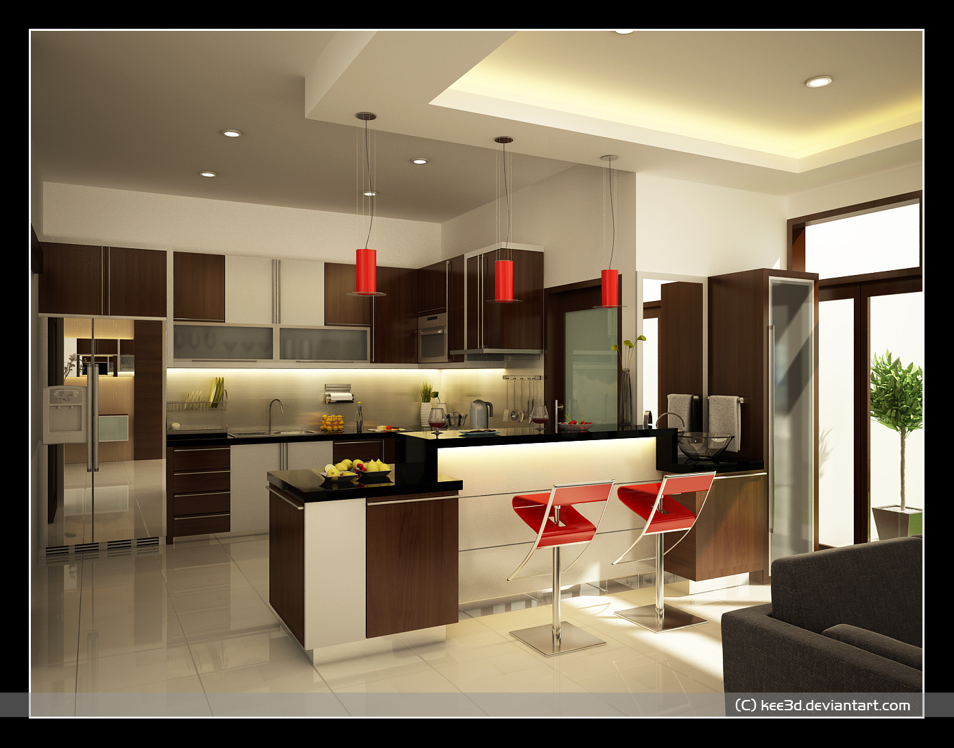 Home interior design decor kitchen design ideas set 2 for Kitchen design and layout ideas