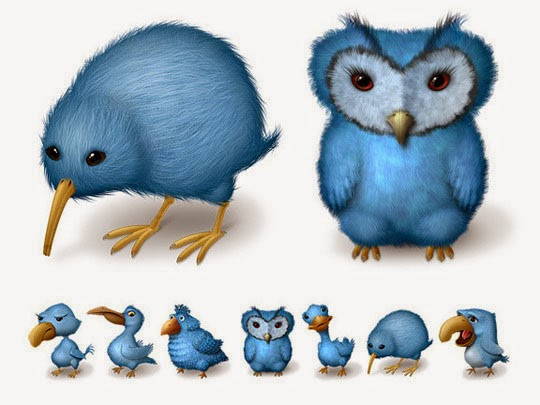 Ugly Birds Twitter Icons