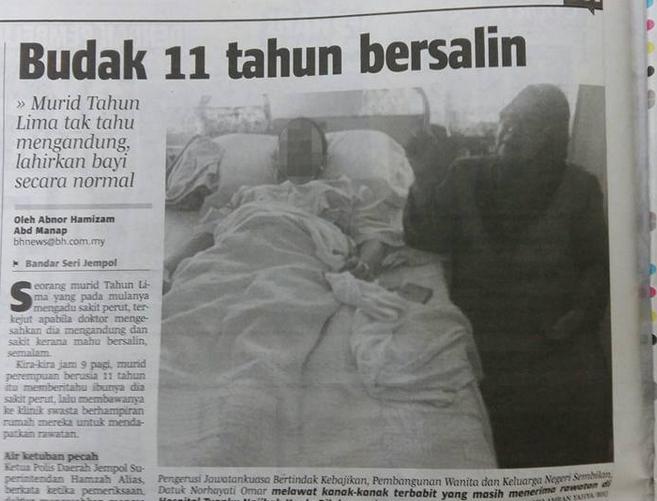 11 tahun bersalin