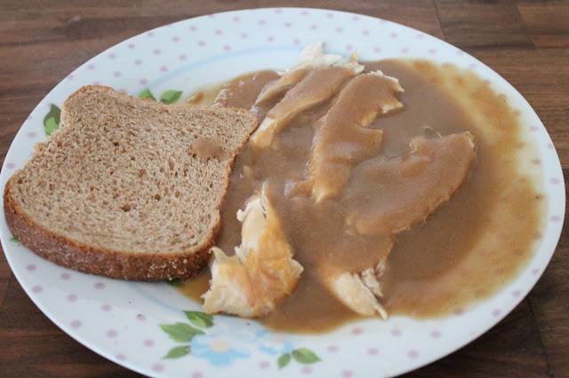 slimming world lunch chicken and gravy sandwich
