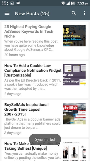 bloggingehow android app