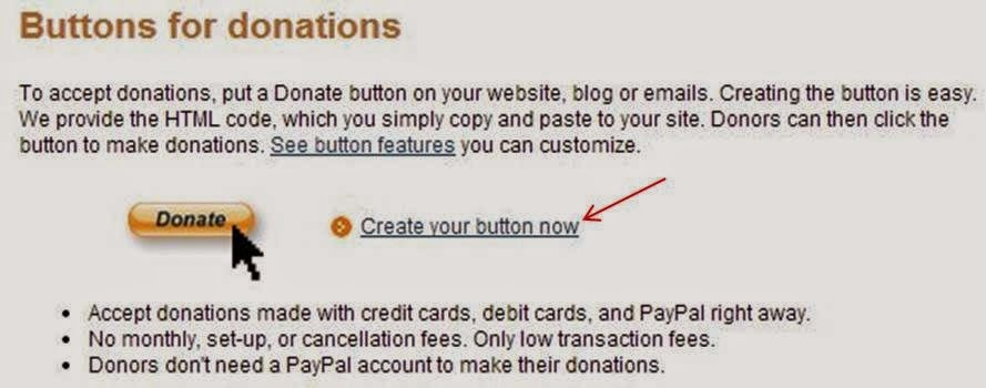 Cara Membuat Tombol Paypal Donation Widget di Blogger langkah 1