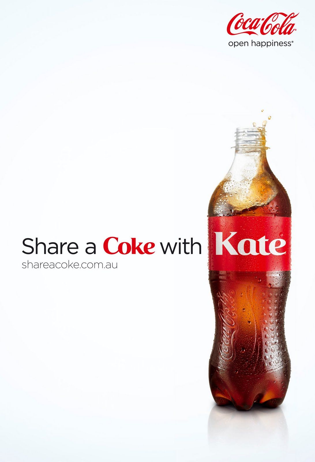 share a coke The 'share a coke' campaign first launched in australia in 2011, and involved  changing the traditional wrapping around the coca-cola bottle to say 'share a.