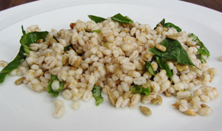 lemon barley salad