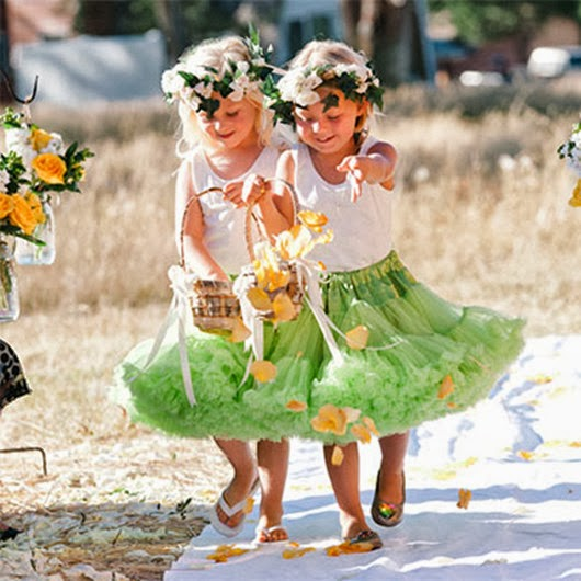 flower girls green wedding ideas