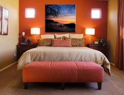 dormitorio matrimonial colores calidos