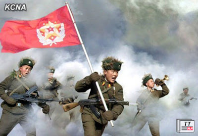 Truyền thông nhà nước Triều Tiên gần đây công bố nhiều bức ảnh trong các cuộc tập trận, thể hiện tinh thần chiến đấu của các binh sĩ.