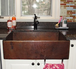 Custom Copper Apron Sink