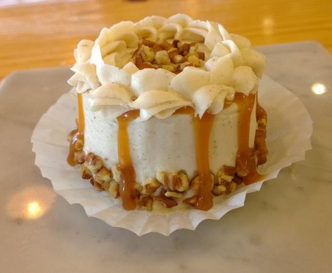 Pumpkin Creme Bomb: pumpkin cake filled with vanilla bean mousse ...
