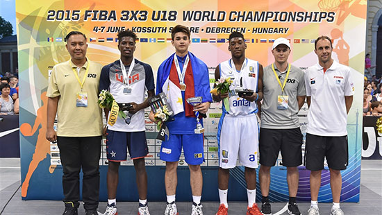 Kobe Paras Champion in 2015 FIBA 3x3 U18 World Championship Slam Dunk