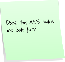 Ass Fat Sticky Note Saturday