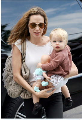celebrity angelina jolie cute baby kid picture