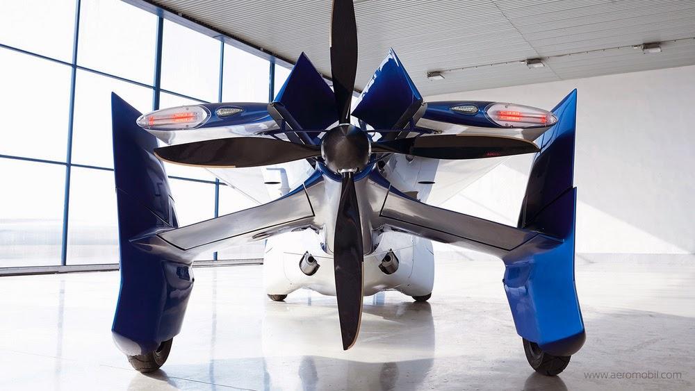 Mobil Terbang Aeromobil 3.0 Bagiang Belakang