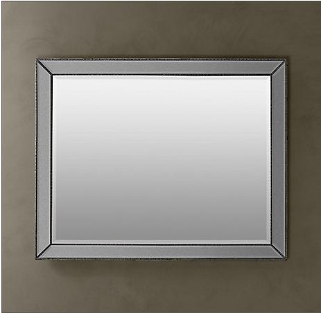 Dead ringer restoration hardware venetian beaded mirror for Mirror z gallerie