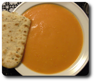 Gulerodssuppe med  Frisk Koriander