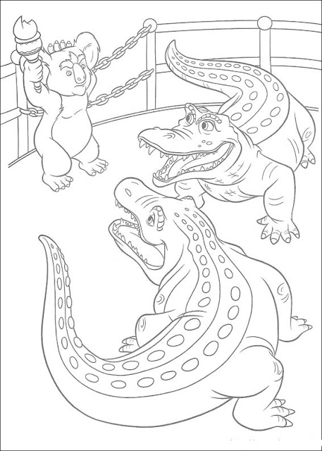 coloriages crocodiles