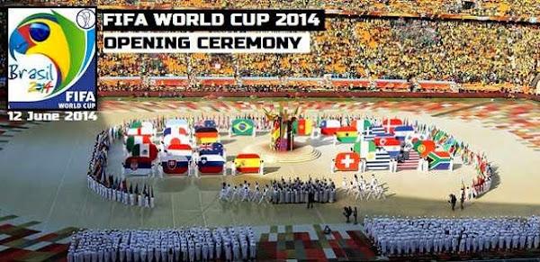 Ceremonia de deschidere Campionatul Mondial de Fotbal CM 2014