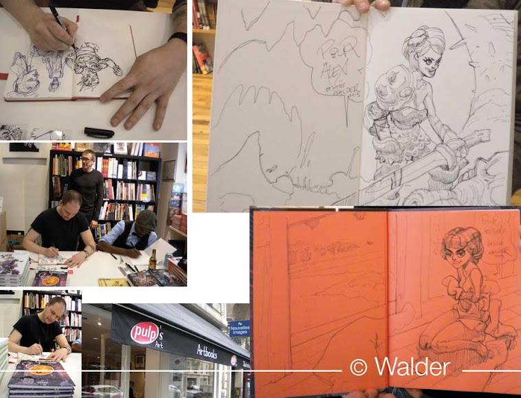 dédicace Paris pulp's comics walder