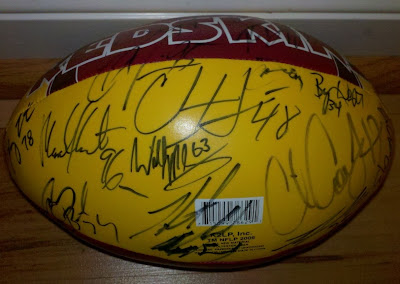 Washington Redskins signed football