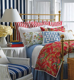 Style home blog ralph lauren bedroom for Ralph lauren linge de lit