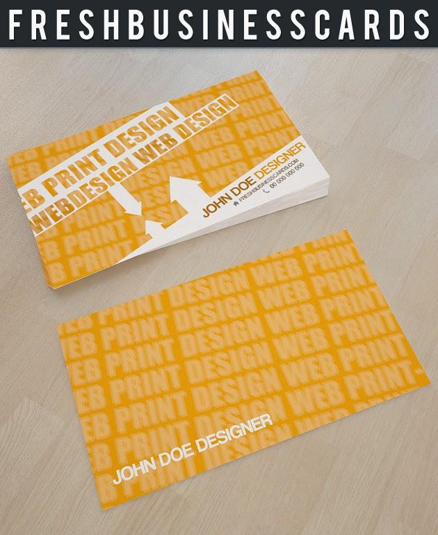 Yellow Business Card PSD Template