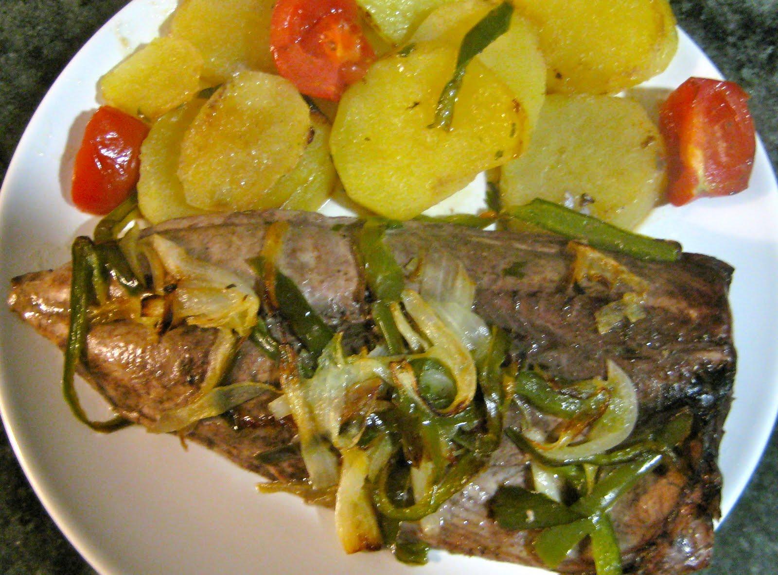 la mia comida melva al horno con patatas