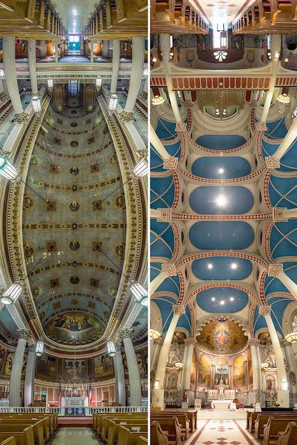 Fotografias panorâmicas verticais registram a beleza das igrejas de Nova York