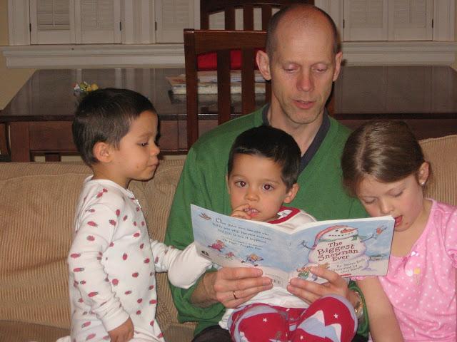 family reading storytime