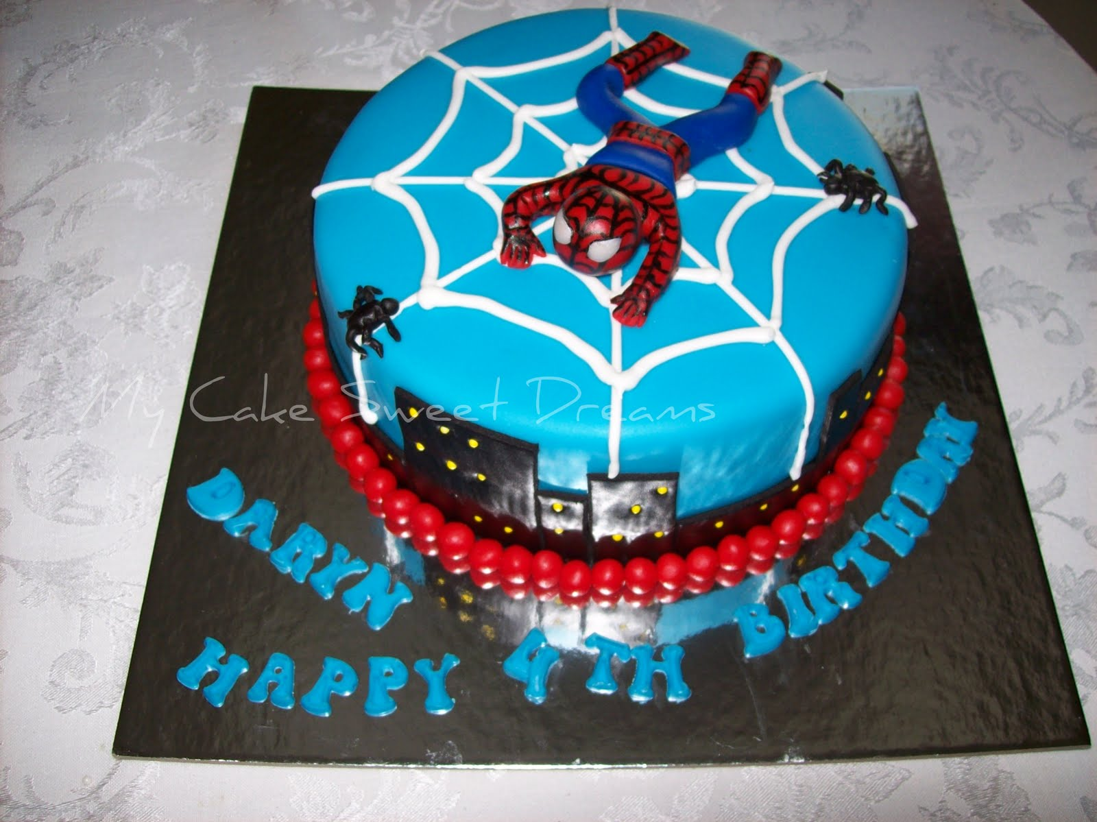 He s requested a spiderman cake on Pinterest by ...