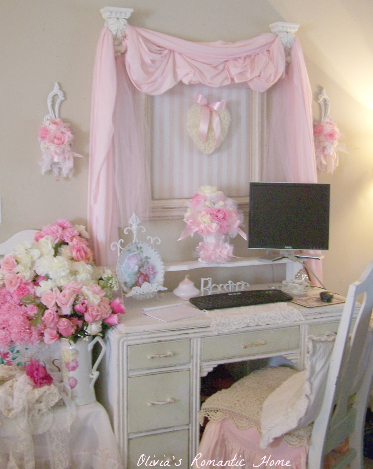 Shabby Chic Office Olivia S Romantic Home Shabby Chic Office