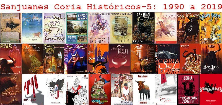 Sanjuanes de Coria históricos 1990-2019