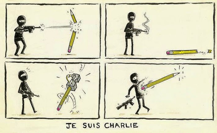 The Pen Is Mightier Than The Sword 28 Cartoonists Pay Tribute To The Victims Of The Charlie Hebdo Shooting - I am Charlie