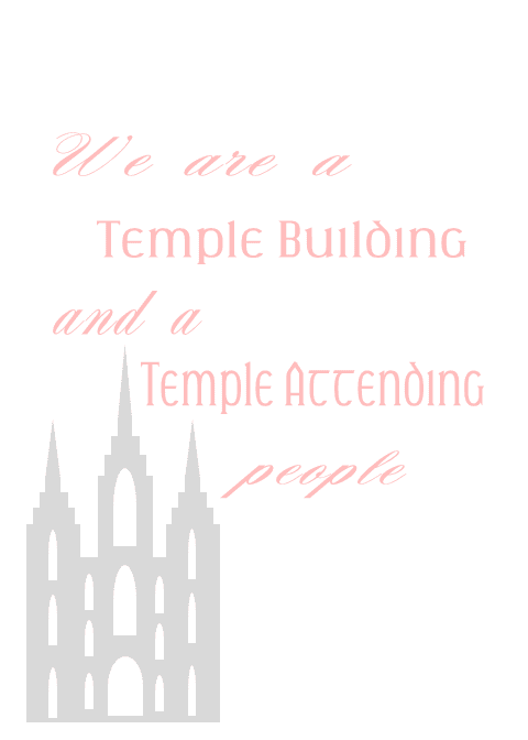 We are a temple building and a temple attending people. Thomas S. Monson