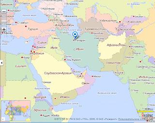 Война в Иране, место событий