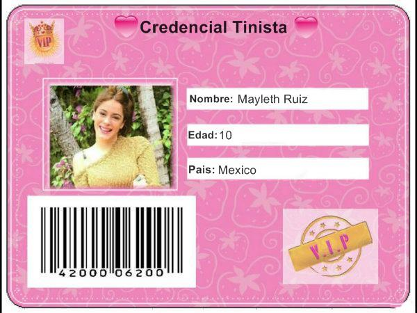 Tinista De Corazòn♥: Credencial y Diploma de Violetta (Tini)