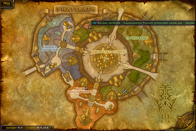 wow map shattrath