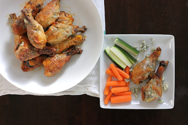 bleu cheese crusted buffalo drumsticks