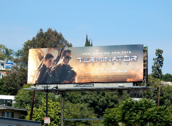 Terminator Genisys movie billboard
