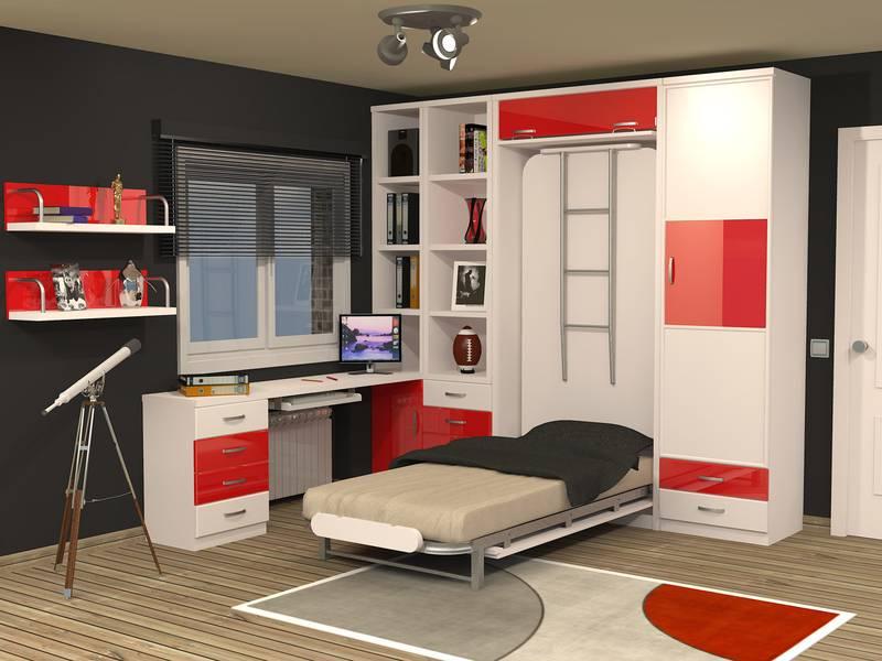 Fotografias de dormitorios con literas abatibles - Literas plegables verticales ...