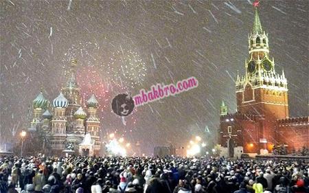 perayaan tahun baru di lapangan merah