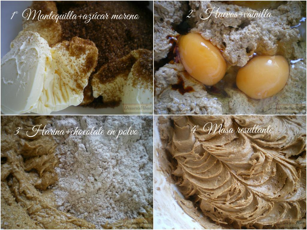 Galletas de chocolate y especias (Elaboración de la masa)
