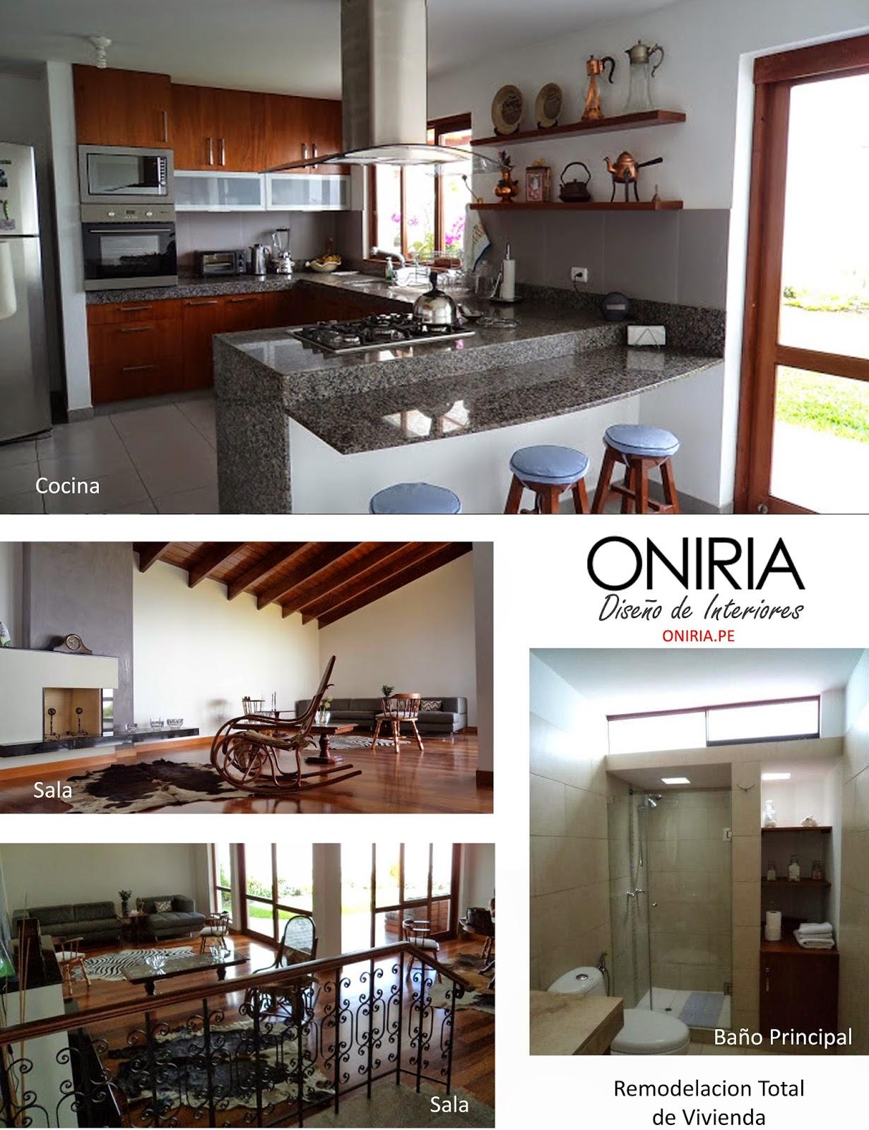 Oniria remodelacion de interiores de vivienda for Interiores de viviendas