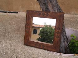 Espejo talla pastoril