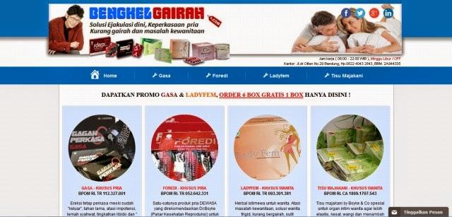 Bengkelgairah.com Toko Produk Pasutri Ready Stok