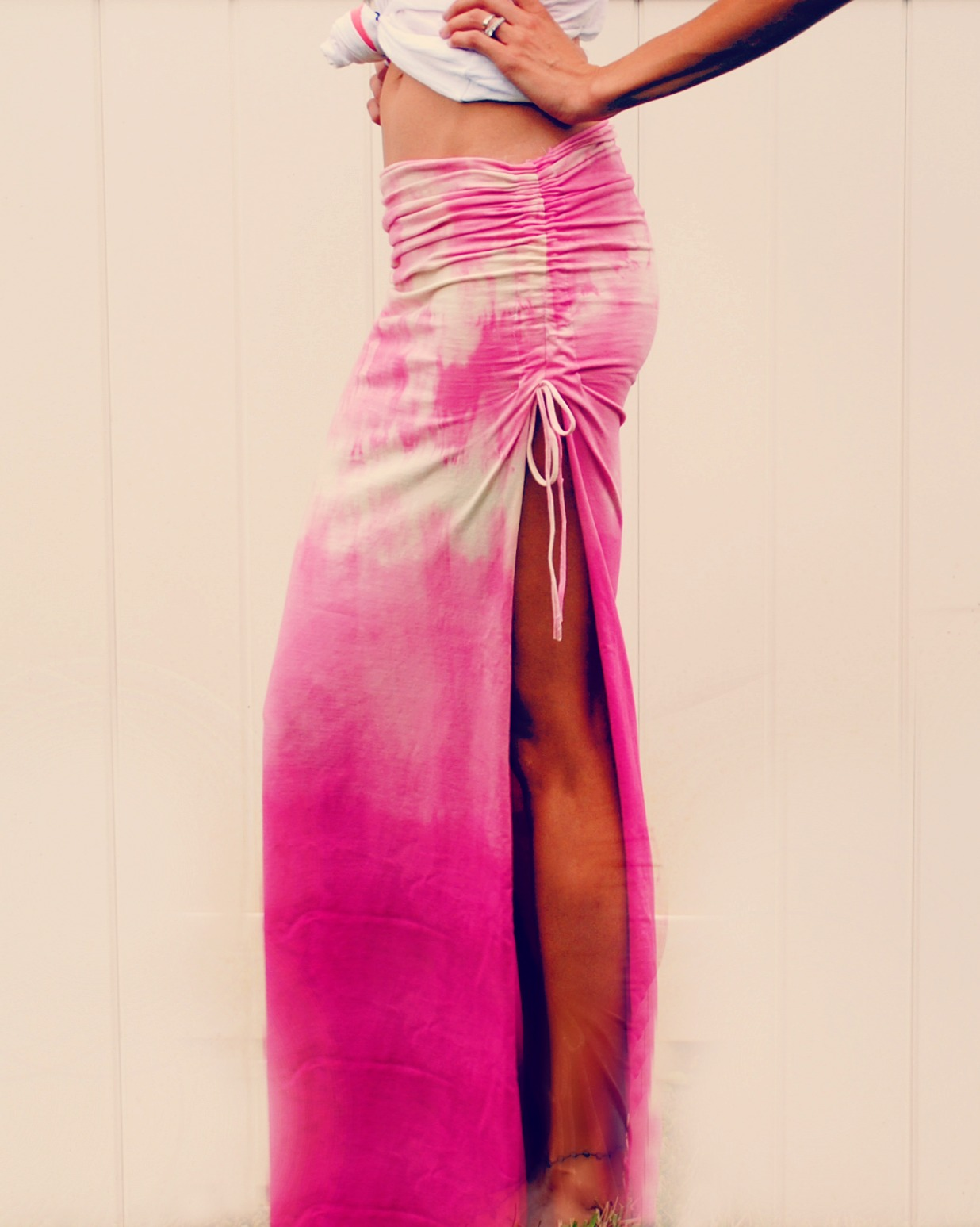 Trash To Couture: DIY ruched maxi skirt.