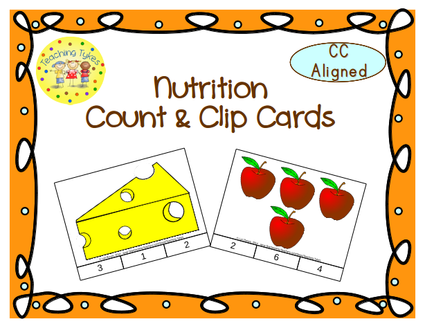 http://www.teacherspayteachers.com/Product/Nutrition-Count-Clip-Cards-Common-Core-Aligned-903219